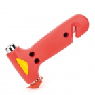 2-in-1 Car Emergency Surviving Hammer w/ Cutter - Red