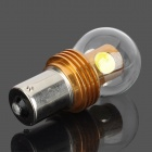 1156 6W 350lm 6000~7000K 4-SMD LED White Light Car Brake / Fog Lamp Bulb - Silver + Golden (12~24V)