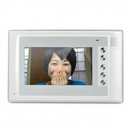 """SY803MA12 1-To-2 7"""" TFT Rainproof Wired 3.6MM Digital Video Door Phone w/ Night Vision - White"""