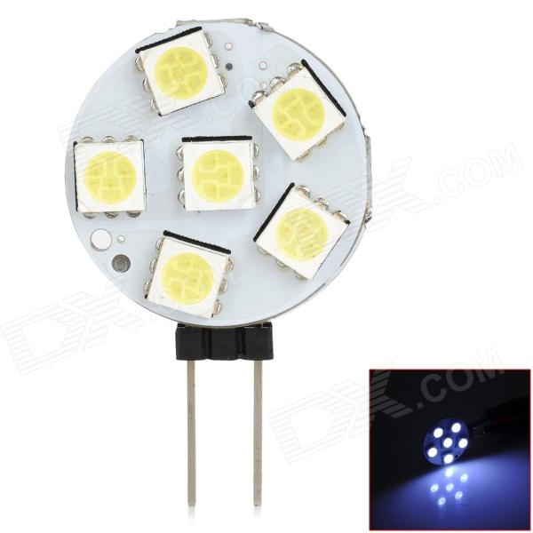 LY214 G4 1.8W 66lm 6000K 6-SMD 5050 LED White Light Car Lamp - Yellow + White