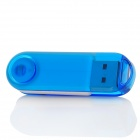 Swivel Style High-Speed USB 2.0 Flash Drive Disk w/ Strap - Transparent Blue + White (8GB)