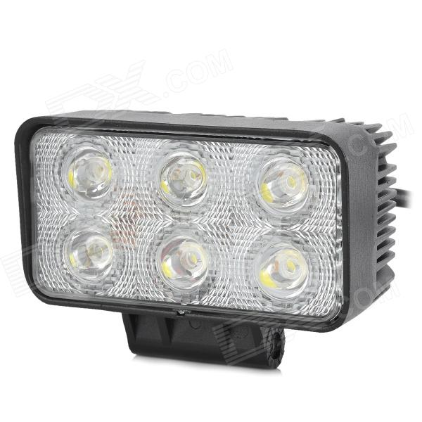 LML-1518 Waterproof 18W 1080lm 6-LED White Light Car Vehicle Working Lamp (DC 10~30V)