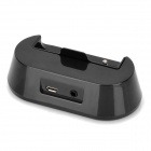 8-Pin Lightning Data / Charging Docking Station w/ 3.5MM Line Out for iPhone 5 - Black
