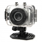 "D10 1.8"" LCD 720p 1.3MP 4X Digital Zoom Anti-Shaking DVR Camcorder w/ Waterproof Case - Silver"