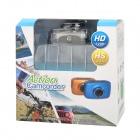 Video cámara DVR con zoom digital c/ Funda impermeable -Plata