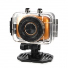 "D10 1.8"" LCD 720p 1.3MP 4X Digital Zoom Anti-Shaking DVR Camcorder w/ Waterproof Case - Golden"
