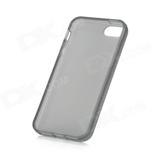 Protective Silicone Case for IPHONE 5 - Transparent GreySilicone Cases<br>Quantity1 PieceColorTransparent GreyMaterialSiliconeCompatible ModelsIphone 5Other FeaturesProtect your phone from scratch dust and shockPacking List1 x Case<br>