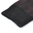GENTRY CARRIAGE C3364 Cashmere Fiber Twill Socks for Men - Black + Coffee