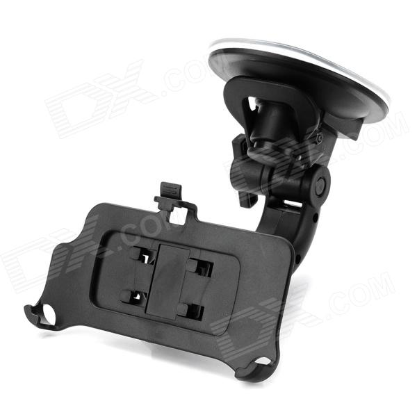360 Degree Rotatable Car Mount Holder w/ Suction Cup for Iphone 5 - Black 360 degree rotatable suction cup mount holder for iphone ipad ipod samsung gps mid more