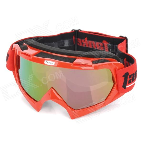 Tanked 970 Outdoor Cycling UV Protection Polarized Sunglasses Goggles - Red