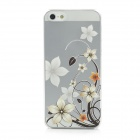 Colorfilm Protective Flower Embossed Plastic Back Case for Iphone 5 - Translucent
