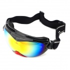 MOON YH616 UV400 Dual Layer Lens Safety Skiing Goggles / Glasses - Black + Red