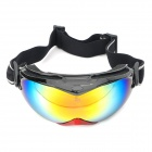 MOON YH616 UV400 Dual Layer Lens Safety Skiing Goggles / Очки - черный + красный