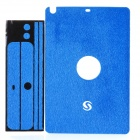 Protective Sticker w/ Screen Guard Film for iPad Mini - Blue