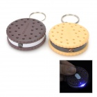 Cute Round Biscuit Style Plastic 1-LED White Light Keychain - Coffee + Yellow (3 x LR41 / 2 PCS)