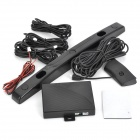 "RD068J3 2.7"" LED Car Reverse Backup Radar Sensor System for America Car License Plate Frame - Black"