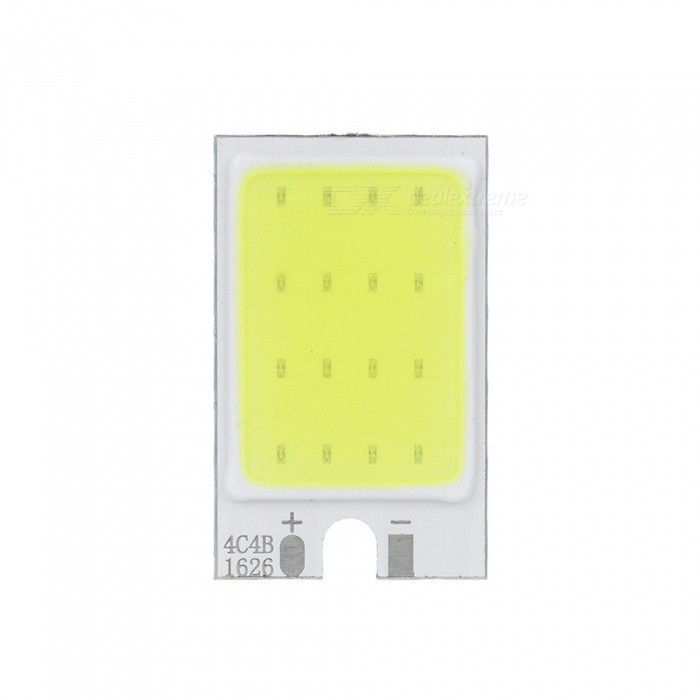 COB 1.2W 120lm 6500K 1-LED White Light Bulb - White + Silver + Yellow (DC 9~10.5V)