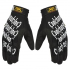 Cool Change KG-1018 Cycling Full-Finger Polyester Gloves - Black + White (Pair / Size XL)