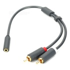 Green Connection 10561 3.5mm Audio Female to 2-RCA Male Adapter Cable (27cm)