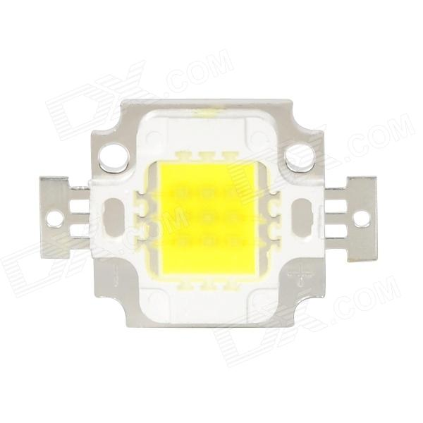 10W 800lm 6500K 1-LED White Light Bulb - White + Yellow + Silver (DC 9~11V)