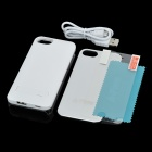 iFans EL-IP5-01 External 1900mAh Power Battery Charger Back Case for Iphone 5 - White + Silver