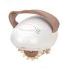 MA-020 3D Mini Body Slimmer Massager - White + Brown