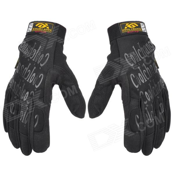 KuGai KG-1018 Outdoor Sports Cycling Full Finger Gloves - Black (Size-XL)