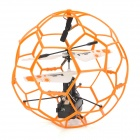 SH 6042 Rechargeable 3.5-CH IR Remote Controller R/C Fly Ball with Gyro - Orange