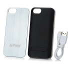 iFans Backup Battery Case + Interchangeable Back Plate + Screen Protector Set for iPhone 5