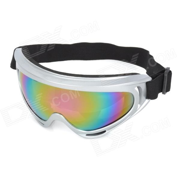Outdoor Sport Cycling Protection Polarized Sunglasses Goggles - Silver + Black