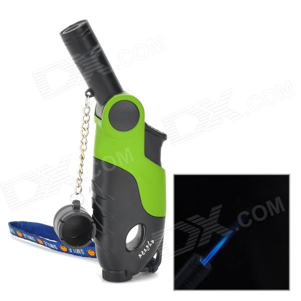 Gun Shape PC + Alloy Windproof Butane Gas Lighter - Black + Green за кронами ливанских кедров