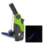 Gun Shape PC + Alloy Windproof Butane Gas Lighter - Black + Green
