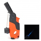 Gun Style PC + Alloy Windproof Butane Gas Lighter - Black + Red