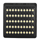 JinKeXinPian JR-1W-2000 1W 90lm 2000K LED Yellow Light Lamp - Silver + White (DC 3.2~3.7V / 50 PCS)