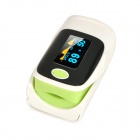 "1.1"" OLED Screen SPO2 Heart Rate Monitor Fingertip Pulse Oximeter - Green + Black + White (2 x AAA)"