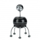 Q Version Alien Shaped 5W 360 Degrees White LED Desktop Lampe - Black + Silver