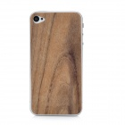 iEasypatch #ws1009 Protective Rose Wood Skin Sticker + Screen Protector for Iphone 4/4S - Brown
