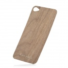 iEasypatch #ws1015 Wooden Back Sticker w/ Screen Protector for iPhone 4 / 4S - Brown