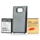 Ersatz 3500mAh Akku + 2450mAh Akku + Batterie Back for Samsung Galaxy Set Cover S2 - Schwarz