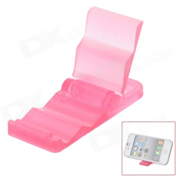 Mini Portable Stepped Stand Holder for Cellphone + GPS + More - Translucent Pink