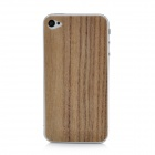iEasypatch #ws1009 Protective Rose Wood Back Skin Sticker + Screen Protector for Iphone 4/4S - Brown