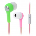 SONUN SN-A01 In-Ear Stereo Earphones w/ Microphone / Earpads - Pink (3.5mm Plug / 120cm-Cable)