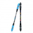 ZG-5091 Intelligence Toy Non Slip Spinning Ballpoint Pens - Black + Light Blue (2 PCS)