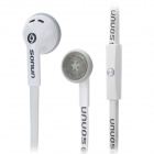 SONUN SN-A08 Flat Cable Earphone w/ Microphone for Cellphone + Tablets + More - White