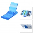 Mini Portable Stepped Stand Holder for Cellphone + GPS + More - Translucent Blue