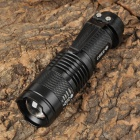 Small Sun ZY-C81 Cree XR-E Q3 240lm 3-Mode White Zooming Flashlight - Black (1 x 14500)