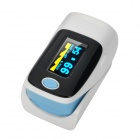 "1.1"" OLED Screen SPO2 / Heart Rate Monitor Fingertip Pulse Oximeter - Blue + Black + White (2 x AAA)"