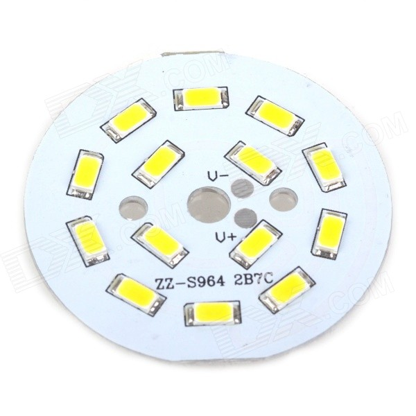 7W 55lm 14-SMD 5630 LED Warm White Light Module - White (DC 12VV) 48w samsung 5630 mounted recessed led ceiling panel light 60x60cm 3800 4200lm 2700 7000k color white pure white warm white