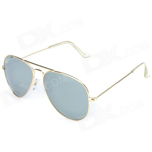 OREKA 1025 UV400 Protection PC Lens Sunglasses - Golden Frame clip on uv400 protection resin lens attachment sunglasses small