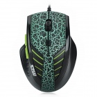 M7 USB 800 / 1600 / 2000dpi Wired Gaming Optical Mouse - Black + Green